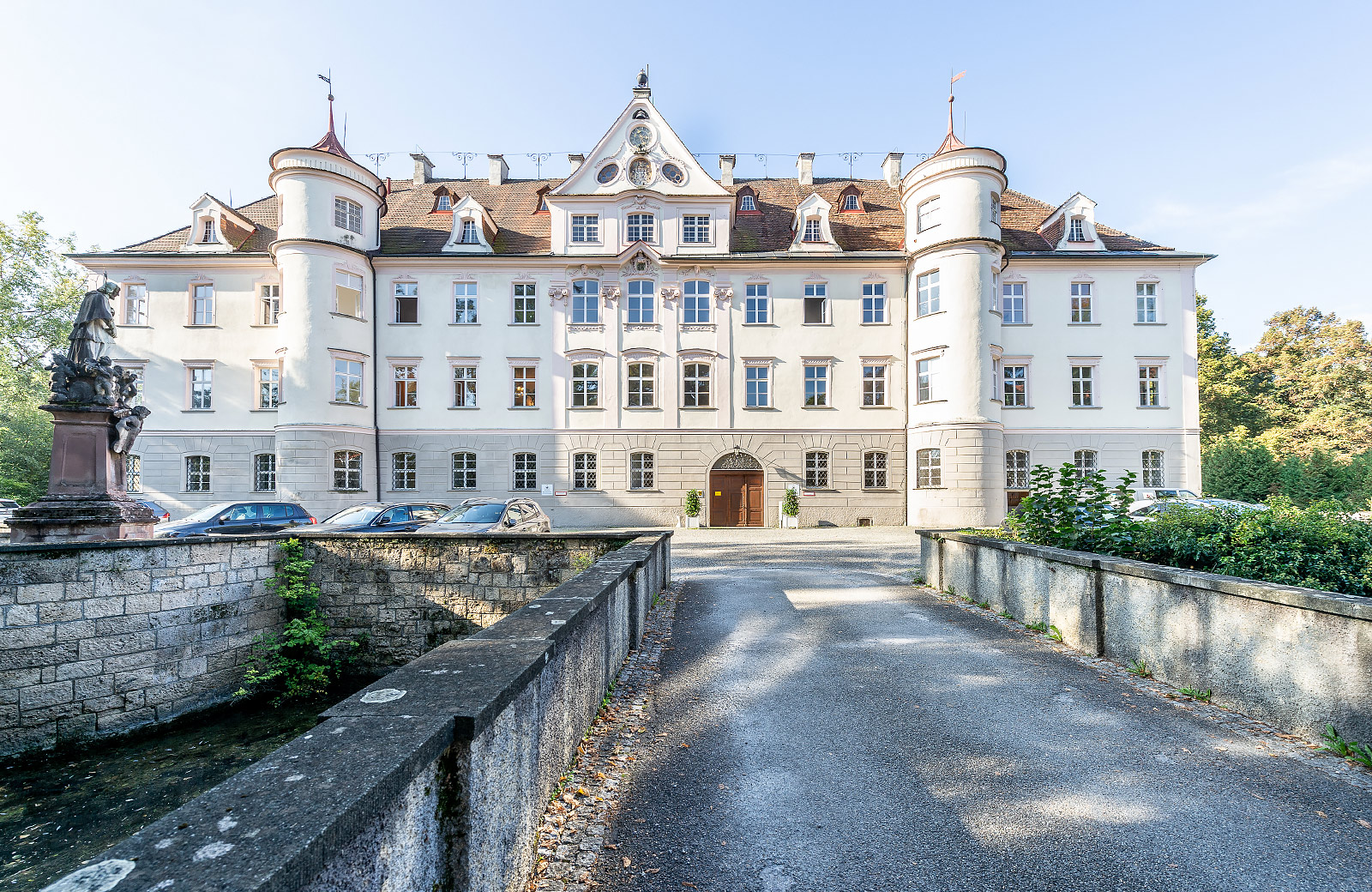 Exterior view of the water castle Bad Waldsee