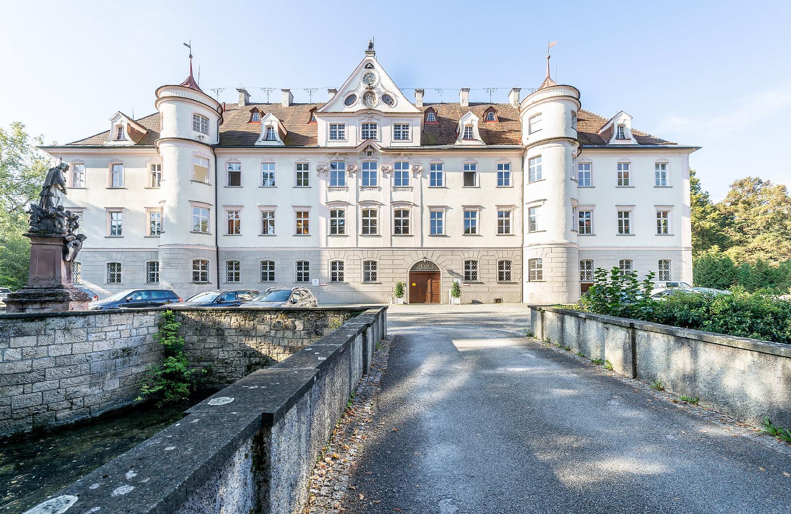 Aussenansicht der Wassserschloss Bad Waldsee
